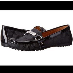 Coach Felisha Black Logo Loafers